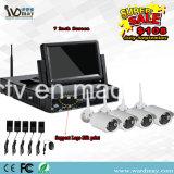 Sets des niedrige Kosten-Überwachungskamera-Installationssatz-Systems-IP der Kamera-NVR mit 7 Zoll LCD-Bildschirm