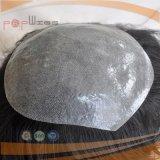 Toupee pieno del bordo dell'unità di elaborazione di Handtied di colore grigio superiore del grado