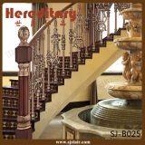 Trilhos decorativos da escada do alumínio de carcaça com corrimão de madeira (SJ-B025)
