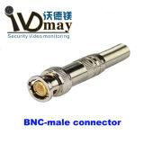 Connettore maschio degli accessori BNC del CCTV della vite di rame piena video
