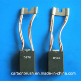 Padrão nacional - escova de carbono da grafita da qualidade eletro para o motor da C.C. (D376)
