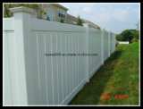 La cerca hermosa permanente del PVC del estilo arquitectónico artesona la cerca del vinilo