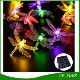 30 LED de 6 m de la libélula de la energía solar luces de cadena de la lámpara a prueba de agua para la cubierta exterior