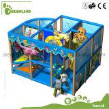 Проекция оборудования спортивной площадки зон игры детей темы океана крытая мягкая