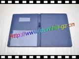 Sostenedor de cuero de la PU A5 con la pista de papel
