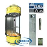 Fornitore di Gaungdong un elevatore domestico di vetro rotondo da 270 gradi