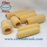 spazzola del rullo di vernice del poliestere 4 '' 6 '' &9 '' con colore giallo della pesca
