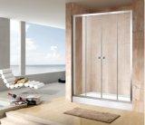 Banheiro dobro da porta deslizante da economia 4/5mm do cerco do chuveiro (EC-DSL14)