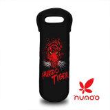 Portador de vino, neopreno duradero sola botella de vino bolsa de asas de la botella de agua patrón de la bolsa Tigre Rojo