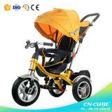 Três crianças do impulso da mão da roda/triciclos do bebê/carrinhos de criança de bebê (6688A)
