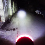 La linterna de la motocicleta LED con la luz larga y sumergió la viga con el ojo del ángulo