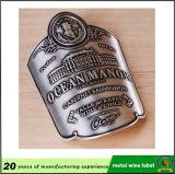 Top calidad Varios forman los colores de metal personalizado etiqueta de aluminio