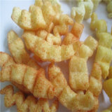 Línea directo sacada de la transformación de los alimentos de bocado del soplo del maíz