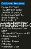 1700mm Rechthoek Corner Massage Bathtub SPA met Ce RoHS voor 2 Mensen (bij-0505F TV dvd-1)