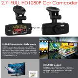 """2.7 """" видеозаписывающее устройство камеры автомобиля Сони Imx323 при GPS отслеживая антенну приемника, отслеживать игры карты Google задний; черный ящик автомобиля 5.0mega FHD1080p, паркуя кулачок управления"""