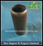 De Geplooide Filter van het Netwerk van de Draad van het roestvrij staal Cylinder Filter/S.S.