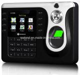 Sistema biométrico do comparecimento do tempo da impressão digital de 2.8 polegadas com software livre