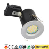 PANNOCCHIA Rated GU10 Downlight del fuoco di Dimmable BS476 del bicromato di potassio di RoHS del Ce