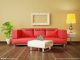 Nueva llegada L sofá del cuero de la dimensión de una variable, sofá moderno de la sala de estar (UL-NS266)
