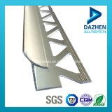 Perfil de aluminio de aluminio de la capa del polvo para la esquina del ajuste del azulejo