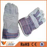 Перчатки работы двойной ладони механически кожаный