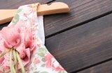 أطفال ملابس نمط فص حافة بنات زهرة يطبع أميرة [درسّ]
