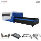 Máquina de estaca do laser da fibra, cortador do laser do CNC da folha de metal para o alumínio, aço, placa de metal
