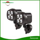 Luz de la lámpara del camino de la luz del punto de la lámpara del almacén del garage de la energía solar de ABS+PC 4 LED