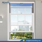 Aluminiumschärpe-Fenster-oberstes doppeltes gehangenes Fenster-vertikales schiebendes Glasfenster