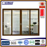 Раздвижная дверь термально изоляции алюминиевая деревянная с двойным стеклом