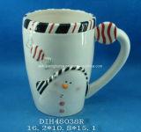 Caffè dei pupazzi di neve/tazza di ceramica dipinti a mano del tè