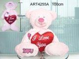 Presente da decoração do urso cor-de-rosa Feliz aniversário