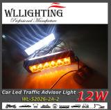 Luz de advertência do conselheiro ambarino ambarino do tráfego do diodo emissor de luz do branco 12