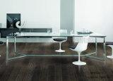 a tabela de jantar popular Desktop de madeira moderna a mais atrasada do aço inoxidável (NK-DT280-1)