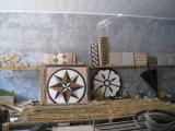 Mosaico del suelo de azulejo, mármol Modelo redondo del mosaico de piedra