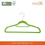 Bunte Spitzensamt-Kleidung-Aufhängungen für Großverkauf