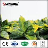 Plantas artificiales revestidas del seto del rectángulo del PVC de la venta caliente los 50X50cm con Ce