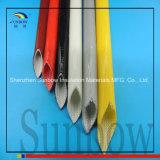 Sleeving saturado resistente da fibra de vidro da borracha de silicone da batalha de Sunbow