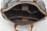 Sac à main lavé d'homme de tissu de toile de cuir véritable (RS--1011)