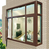 DIY Balkon-Größen-Entwurfs-hölzerne Farben-Aluminium-Rahmen-Glasflügelfenster-Schwingen-Fenster
