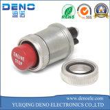 commutateur de bouton poussoir rouge d'acier inoxydable en métal de commutateur de bouton de klaxon de 16mm