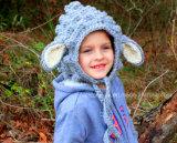 Beanie овец младенца шлема овечки вязания крючком руки ягнится подарок пасха