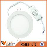 Preço claro do diodo emissor de luz do teto liso redondo barato da luz de painel do diodo emissor de luz da lâmpada do teto