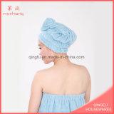 Microfiber Haar-Trockner Tuch-Haar-Schutzkappe mit Spitze