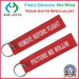 Ansturm-Ordnungs-Großverkauf-Stickerei Keychain /Baggage Marke