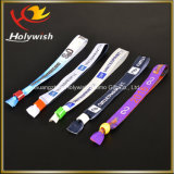 Wristband de encargo del festival de la alta pulsera segura material de la tela del poliester