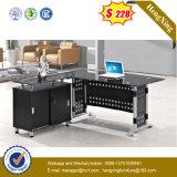 Bureau chaud en métal et en verre de meubles de bureau de vente avec le clavier (NS-GD019)
