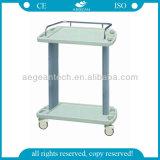 Carretilla lujosa del trabajo del hospital del ABS 2-Layer de AG-Lpt001A