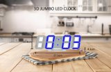 夜モードのデジタル3D LED番号柱時計