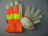 こんにちは気力のブタのグレーンレザーのThinsulateのライニングの冬作業手袋(3521)